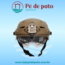 Capacete Airsoft Helmet TB 957 Areia com óculos Emerson Gear