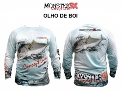 Camisa Monster 3x Fish Collection (Olho de Boi, Piarara, Red Fish ou Robalo)