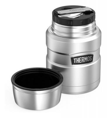 Marmita Térmica 480 Ml Inox Thermos 9h Quente/ 14h Frio - Foto 1