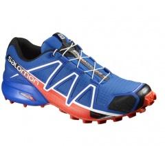 Tênis Speed Cross 4 Salomon Azul e Laranja