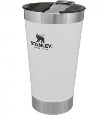 Copo Térmico Stanley com tampa 473ml Branco - Foto 1